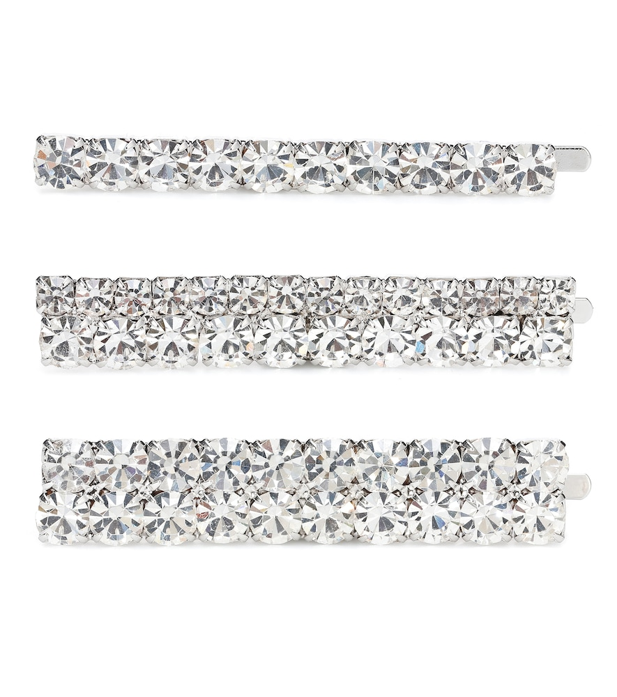 Alessandra Rich Slippers CRYSTAL HAIR SLIDES