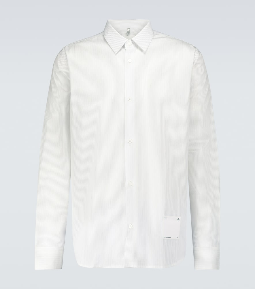 Oamc Mark Long-sleeved Cotton Shirt In White