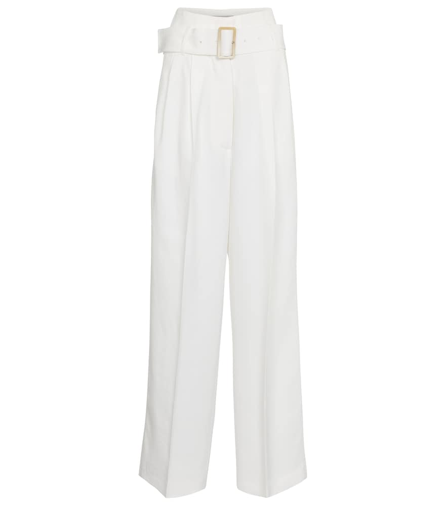 Golden Goose CLEOFE BELTED HIGH-RISE WIDE-LEG PANTS