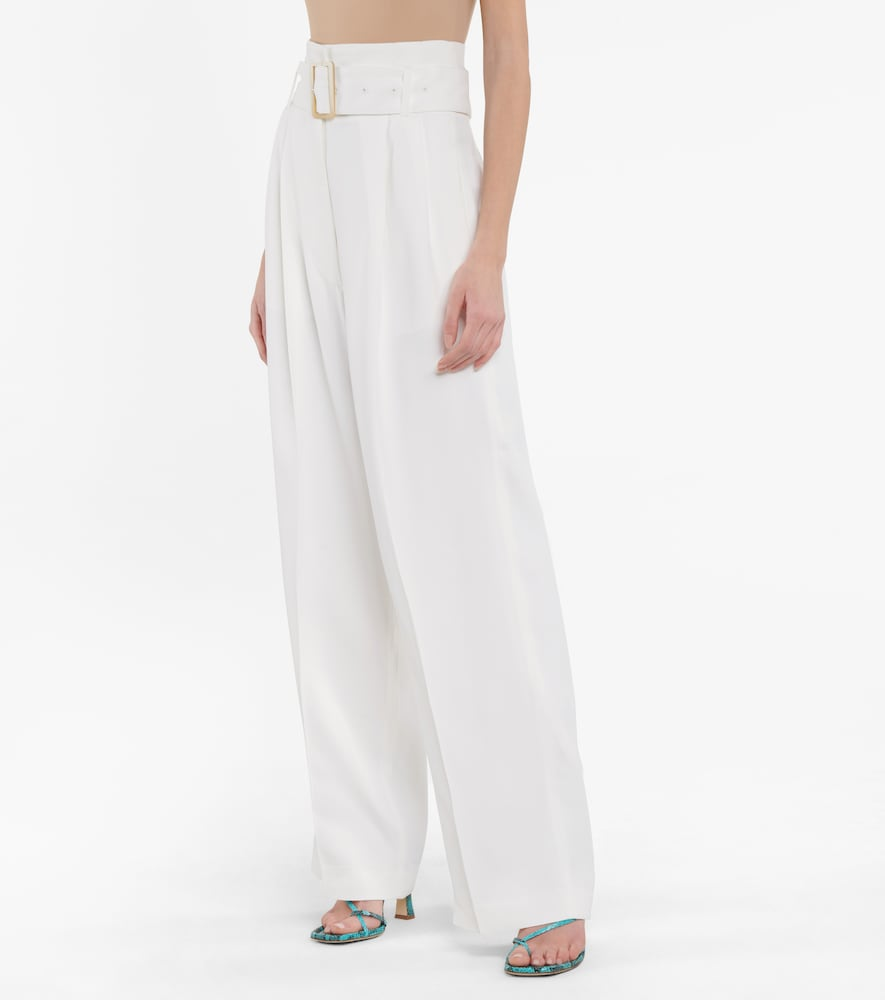 GOLDEN GOOSE Linings CLEOFE BELTED HIGH-RISE WIDE-LEG PANTS