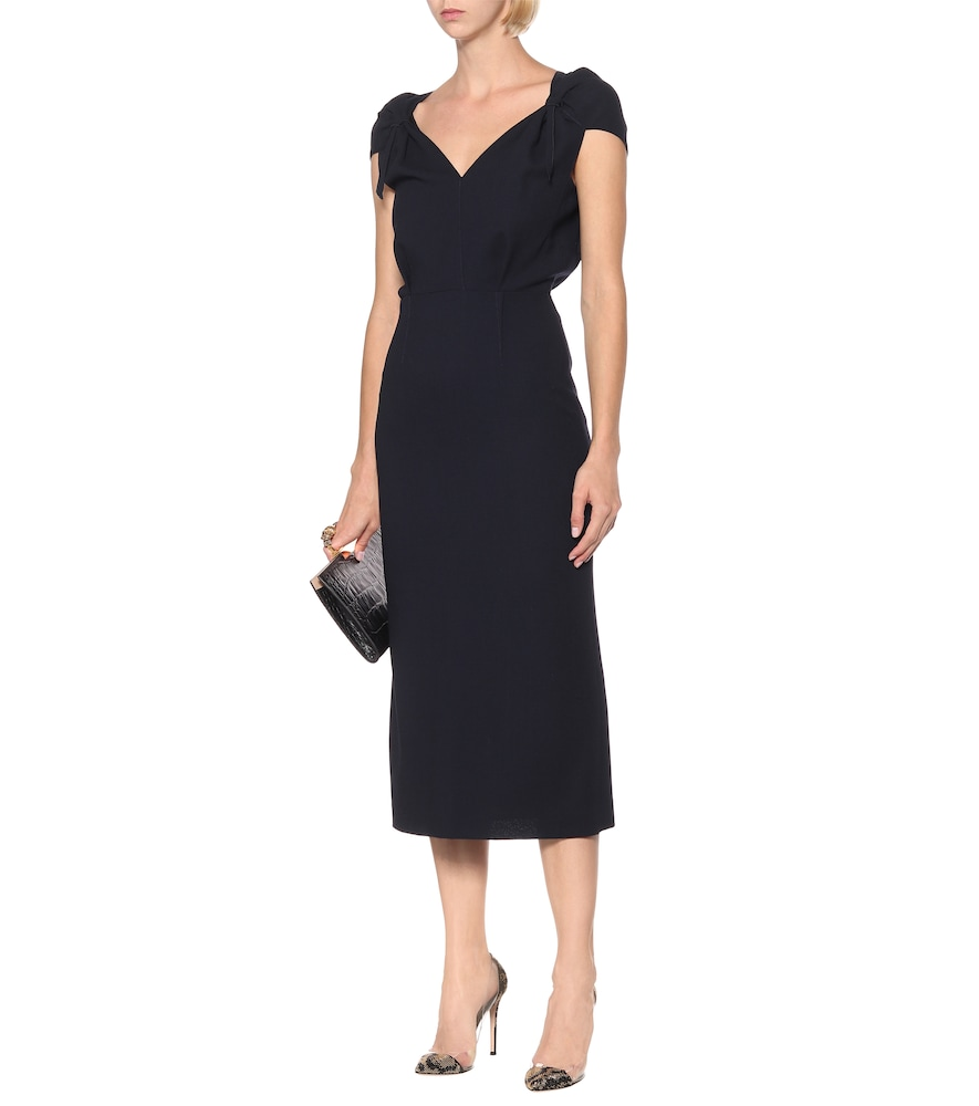 Eclipse wool-crêpe midi dress by Roland Mouret