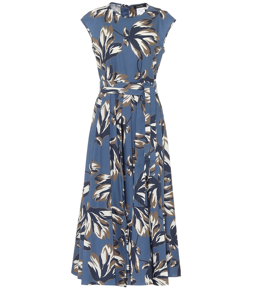 Fido floral cotton-poplin midi dress