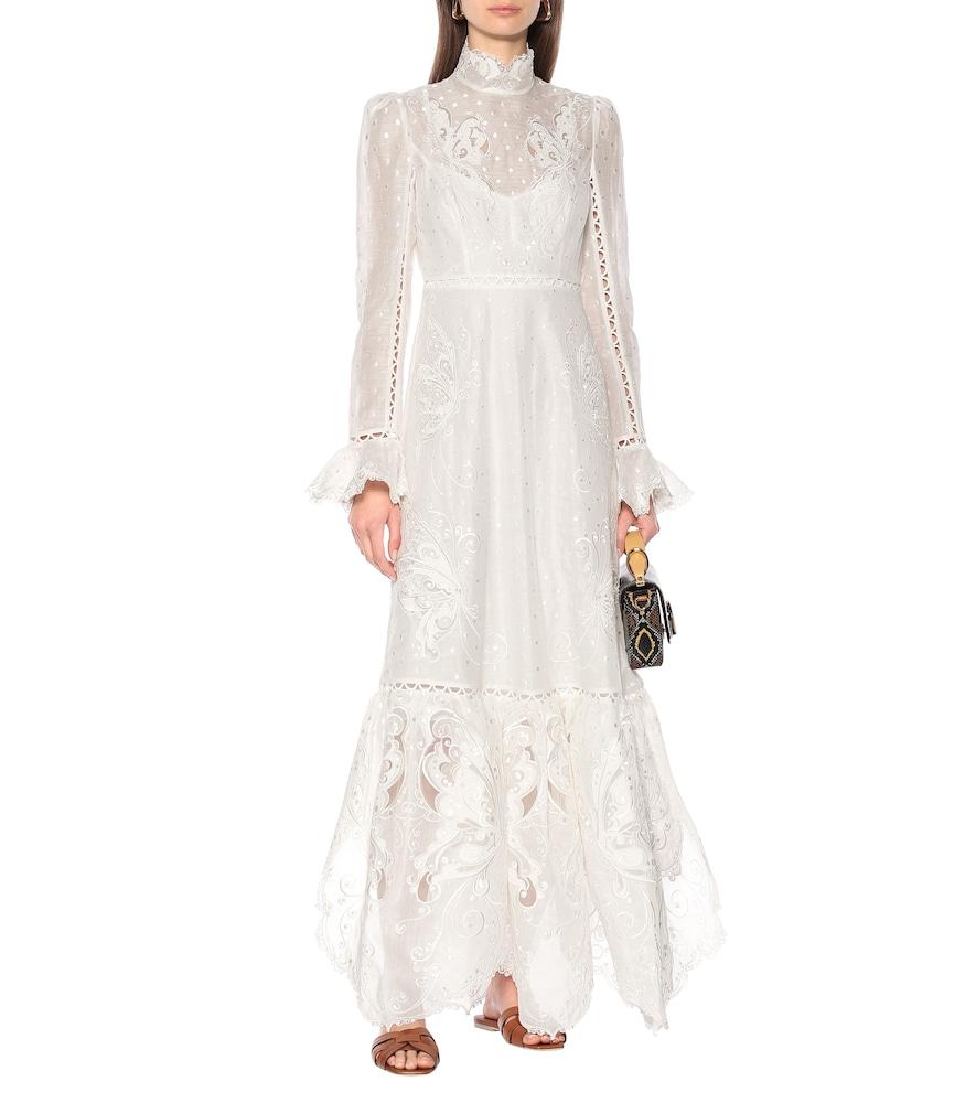 Super Eight linen and silk maxi dress by Zimmermann