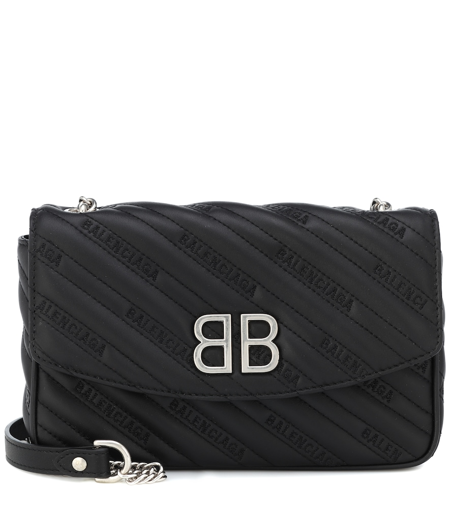 CHAIN ROUND S LEATHER SHOULDER BAG