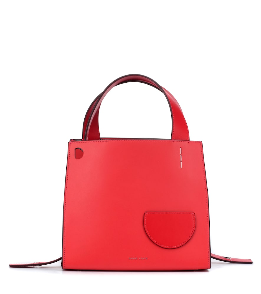 Margot Leather Tote Bag - Red