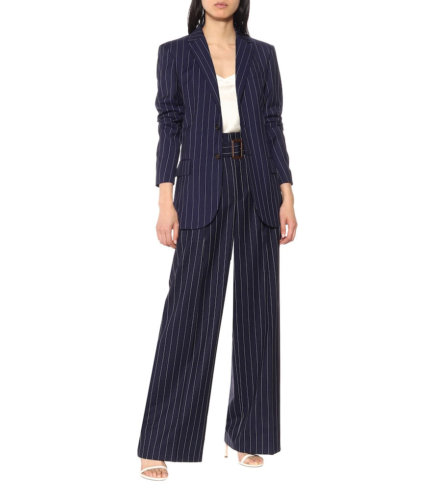 Pinstripe wool blazer by Polo Ralph Lauren
