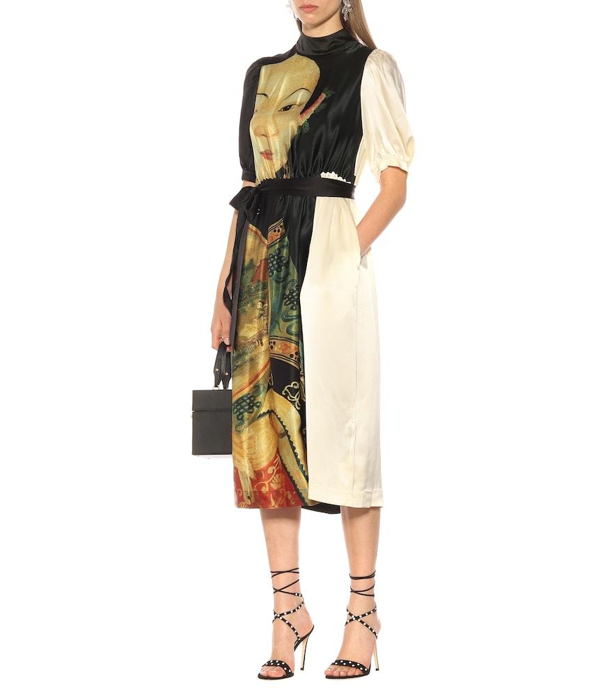 Printed satin dress by Simone Rocha