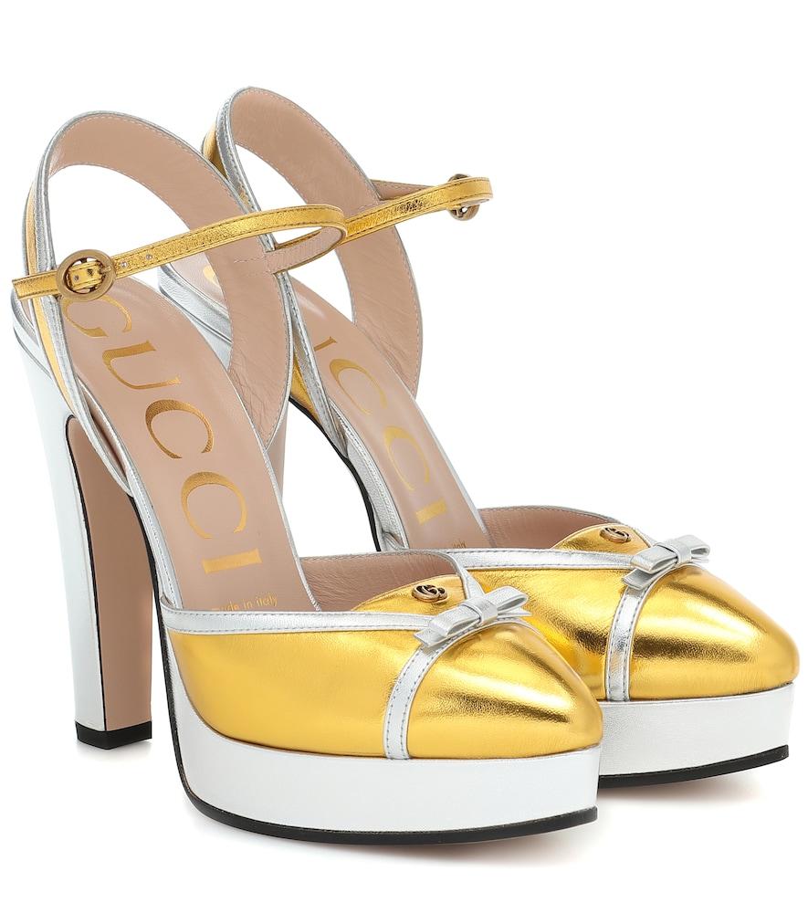 Escarpins à plateau en cuir - Gucci - Modalova
