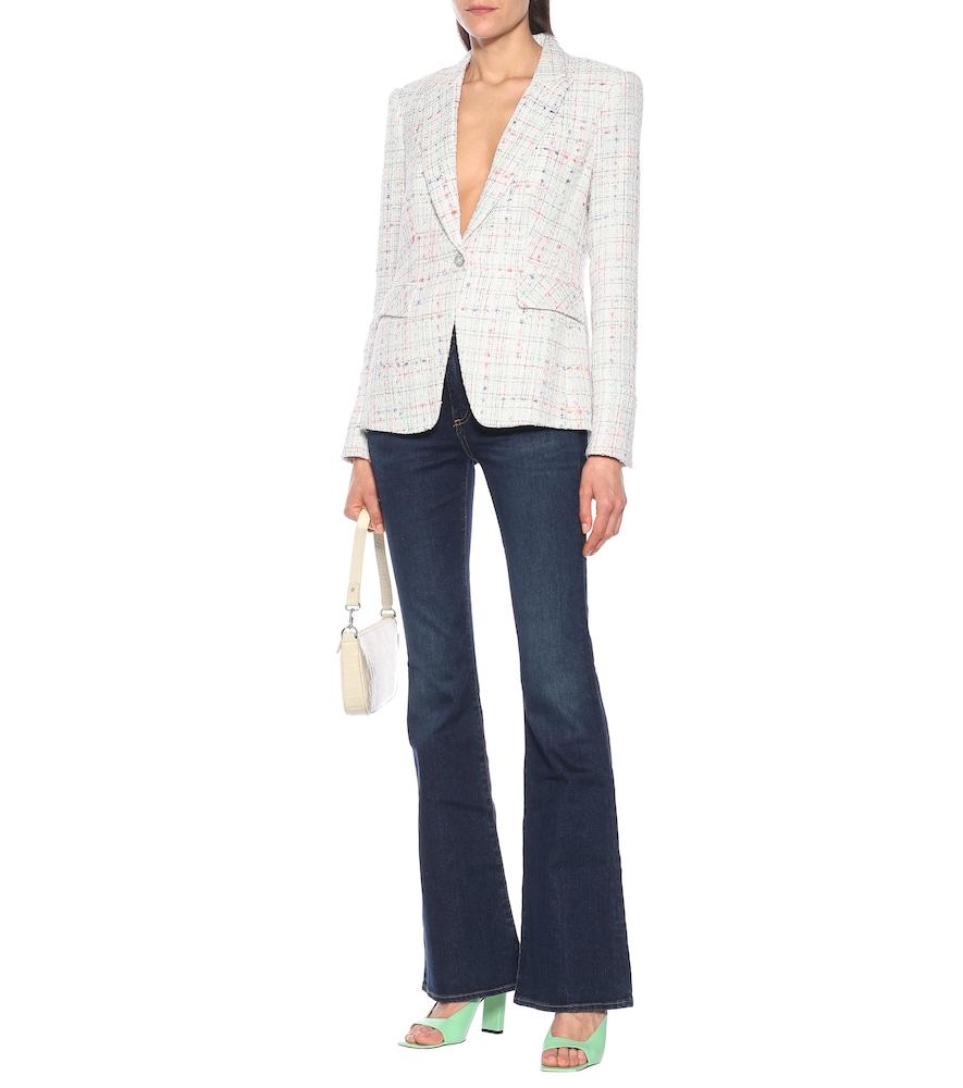 Cutaway Dickey tweed blazer by Veronica Beard