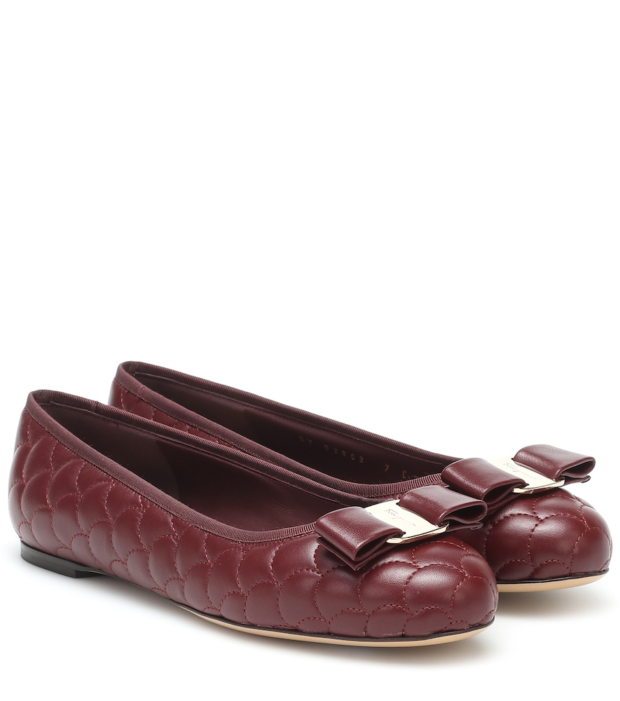 Salvatore Ferragamo VARINA QUILTED LEATHER BALLET FLATS