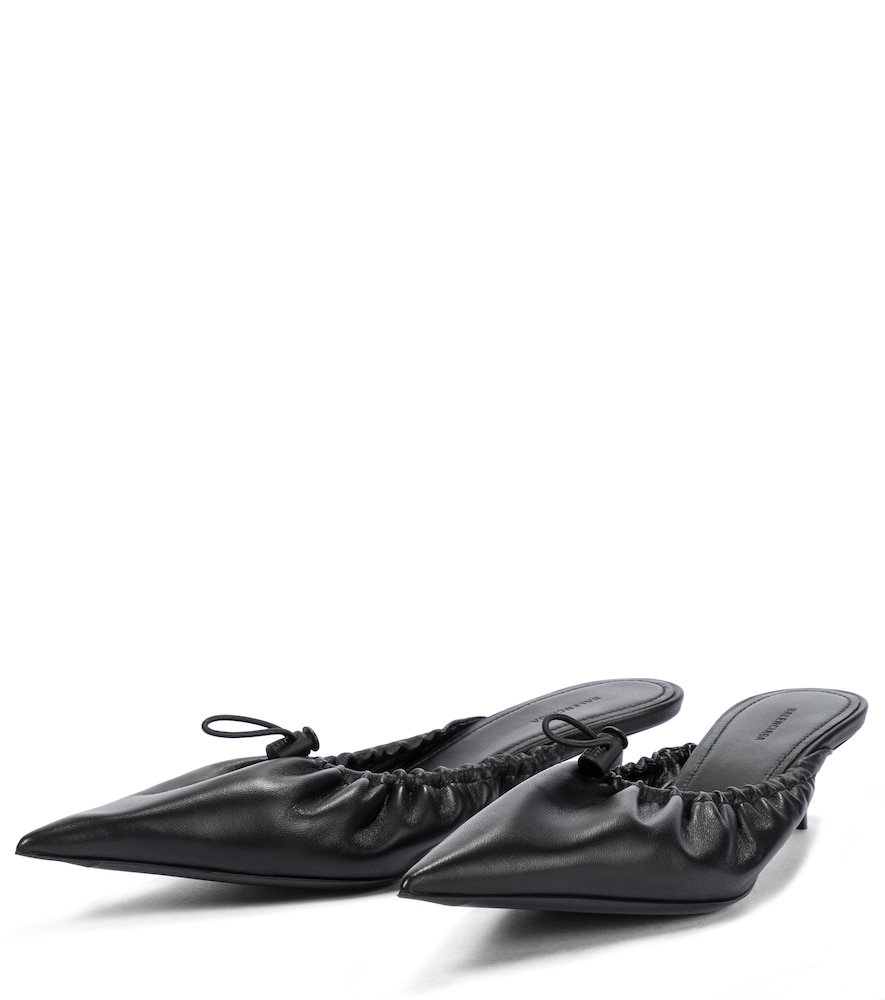 BALENCIAGA Leathers SCRUNCH KNIFE LEATHER MULES