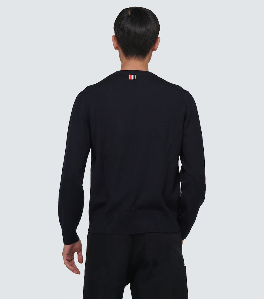 THOM BROWNE Wools 4-BAR MERINO WOOL SWEATER