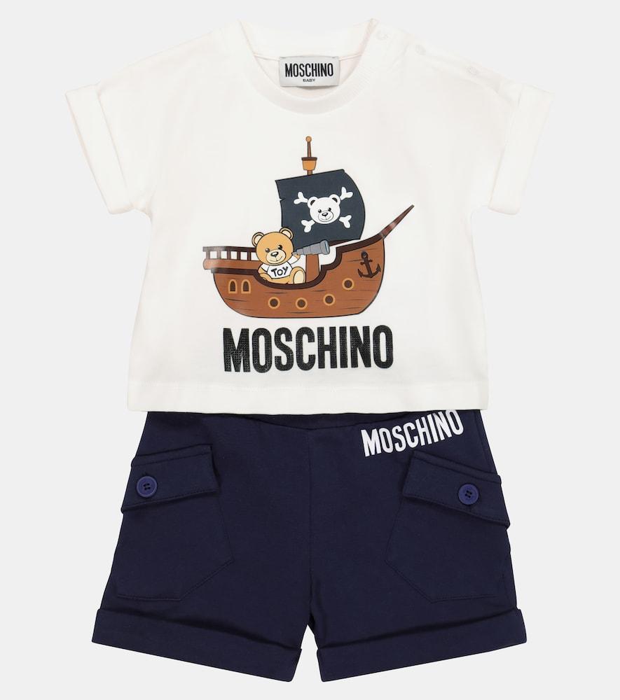 MOSCHINO Sets BABY COTTON T-SHIRT AND SHORTS SET