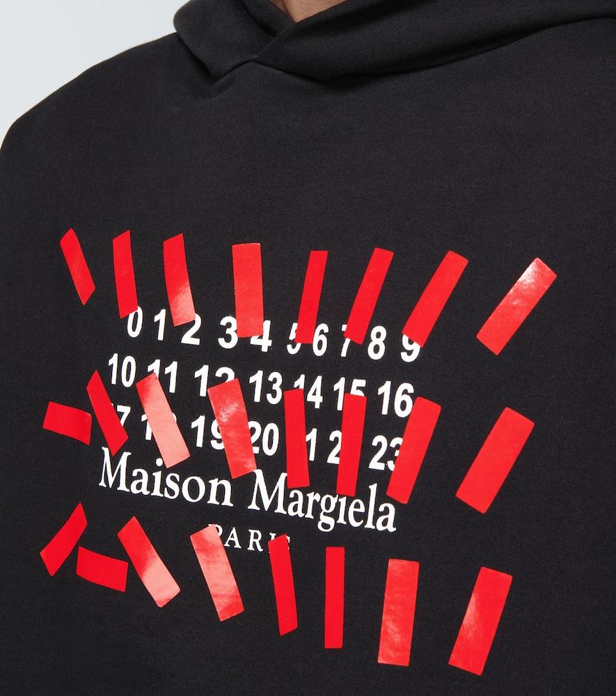 MAISON MARGIELA Cottons NUMBERS LOGO HOODED SWEATSHIRT