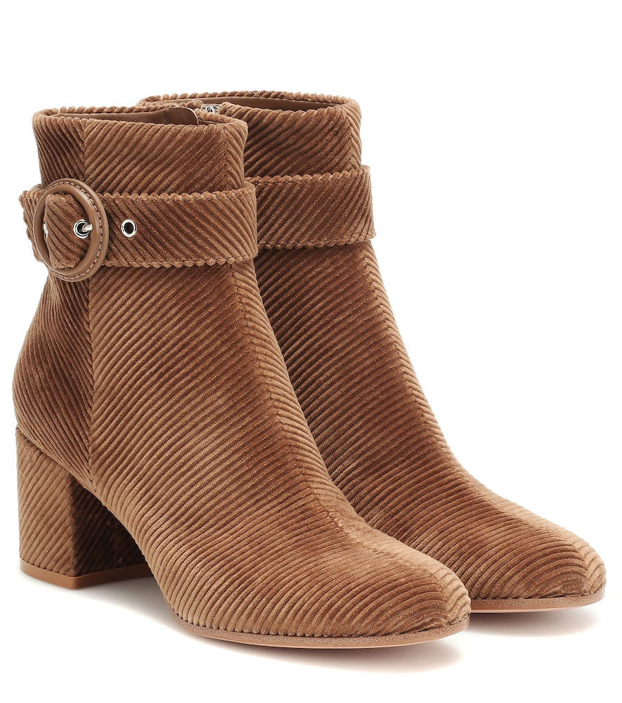 GIANVITO ROSSI   Lucas Corduroy Ankle Boots   Goxip