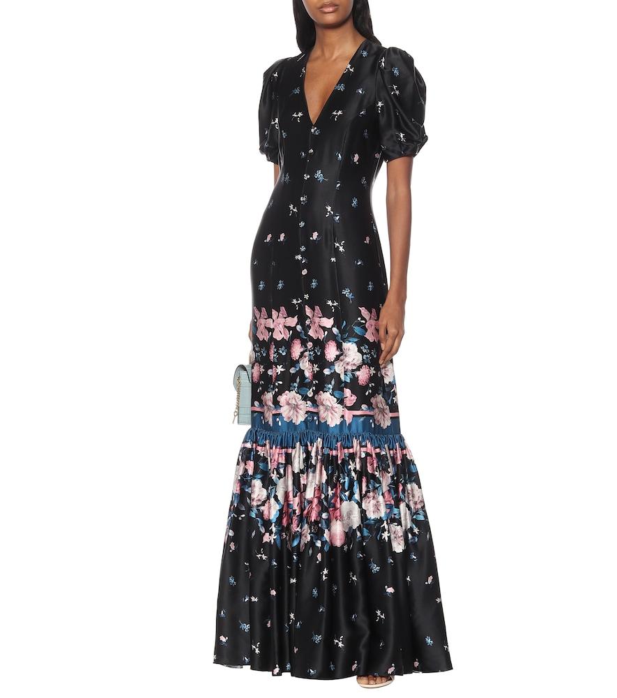 Rosetta floral silk-satin gown by Erdem