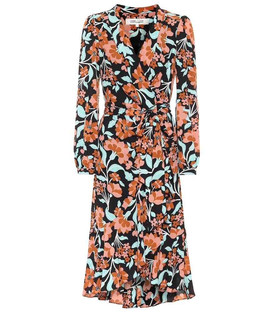 Carla Two floral cr?e wrap dress by Diane von Furstenberg