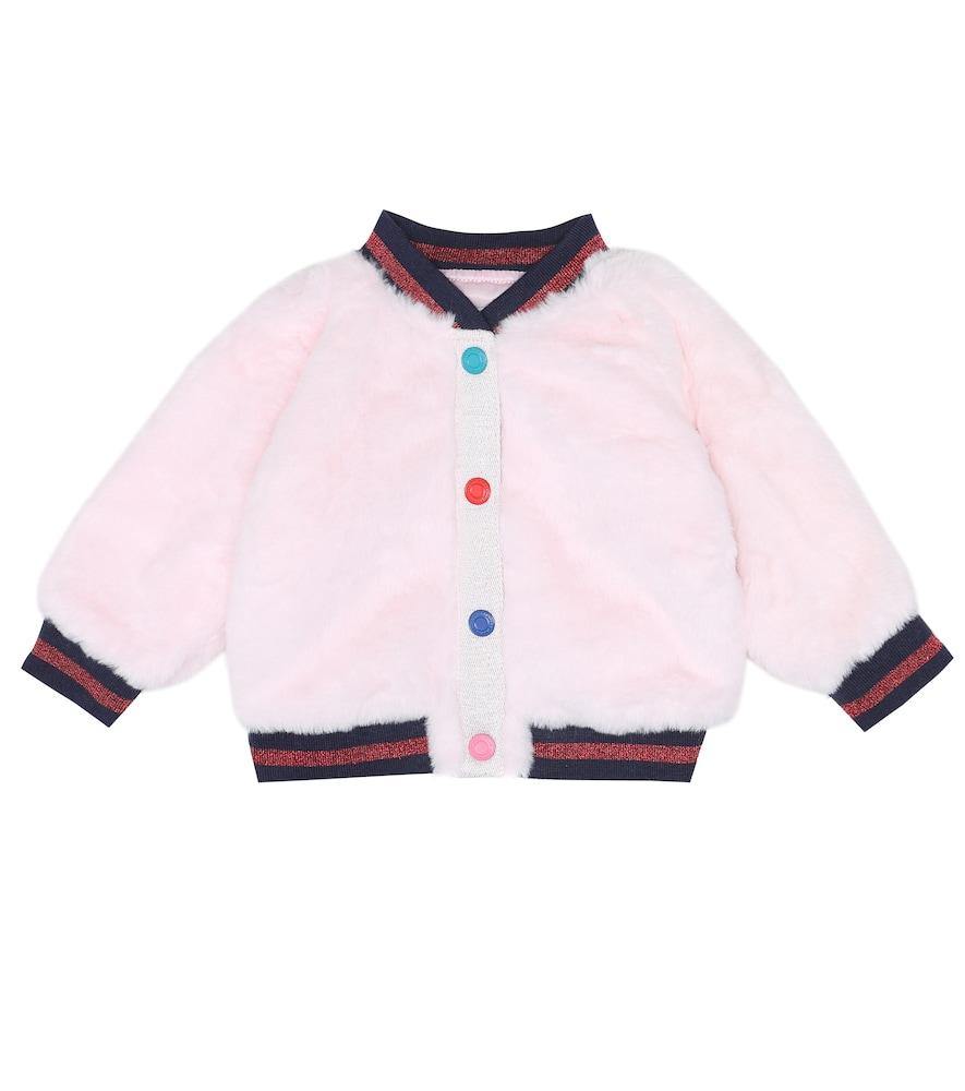 The Marc Jacobs BABY MASCOT FAUX FUR BOMBER JACKET
