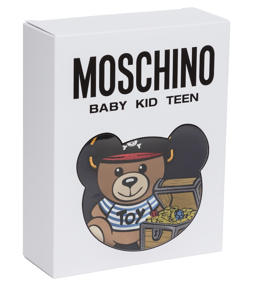 MOSCHINO Cottons BABY STRETCH-COTTON PLAYSUIT AND HAT SET