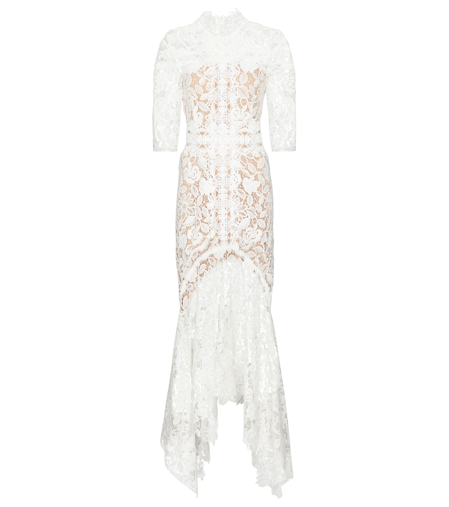 Costarellos Linings KALISSA GUIPURE LACE GOWN