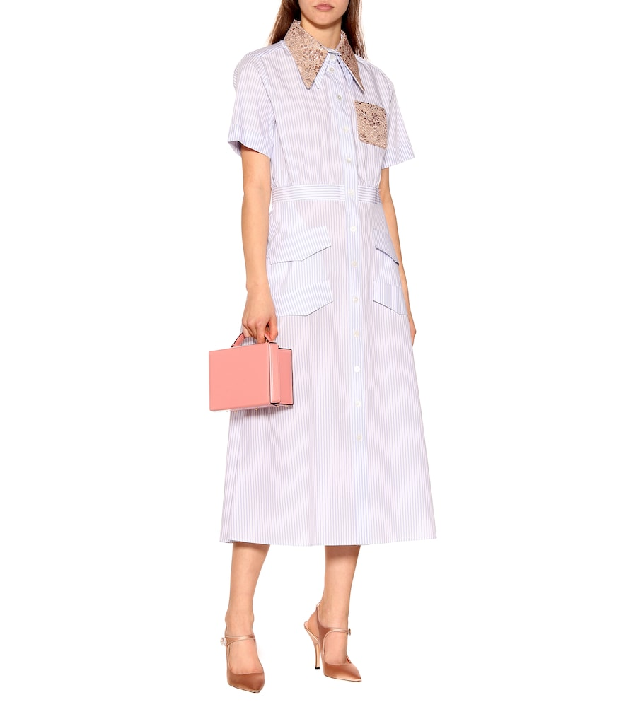 Embellished cotton shirt dress by Rochas