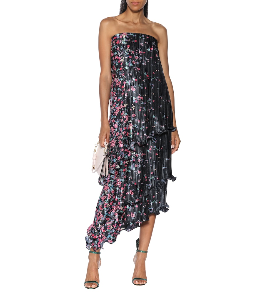 Floral pliss?midi dress by Givenchy