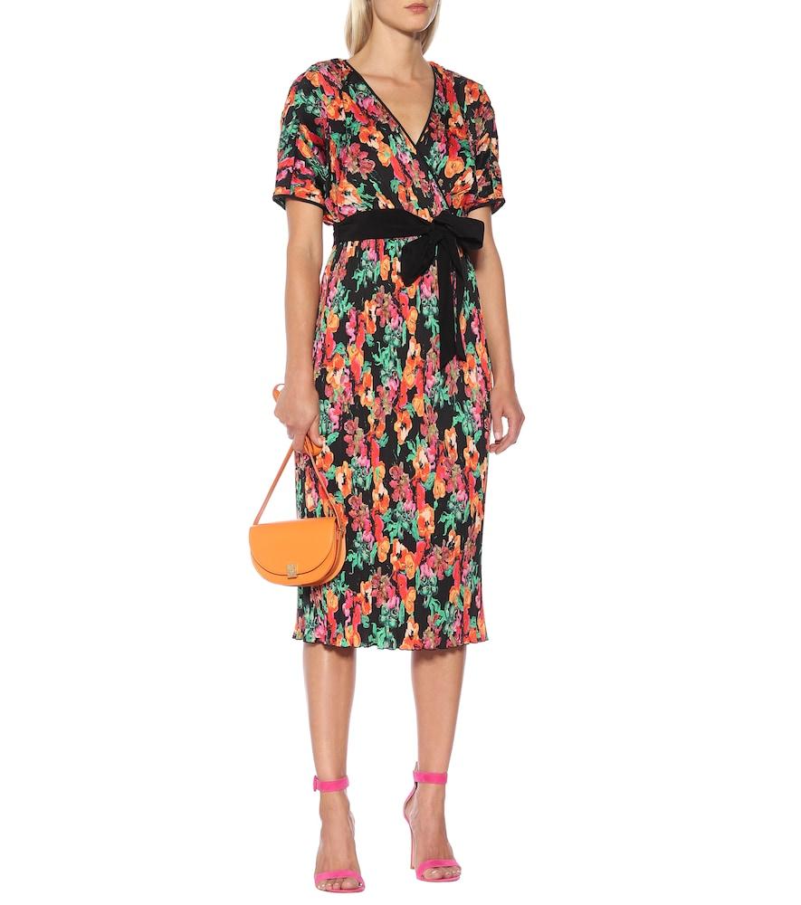 Autumn pleated midi dress by Diane von Furstenberg