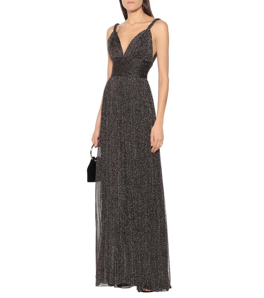 Metallic stretch-knit gown by Elie Saab