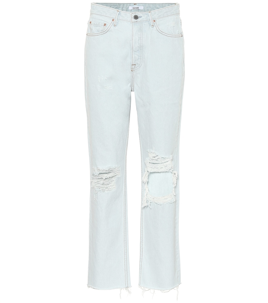 Mica high-rise straight jeans