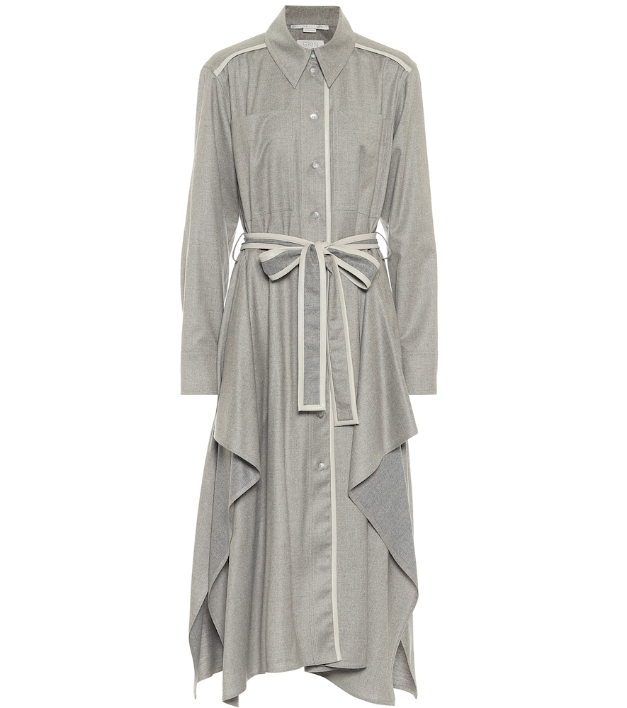 Leilani wool flannel shirt dress by Stella McCartney