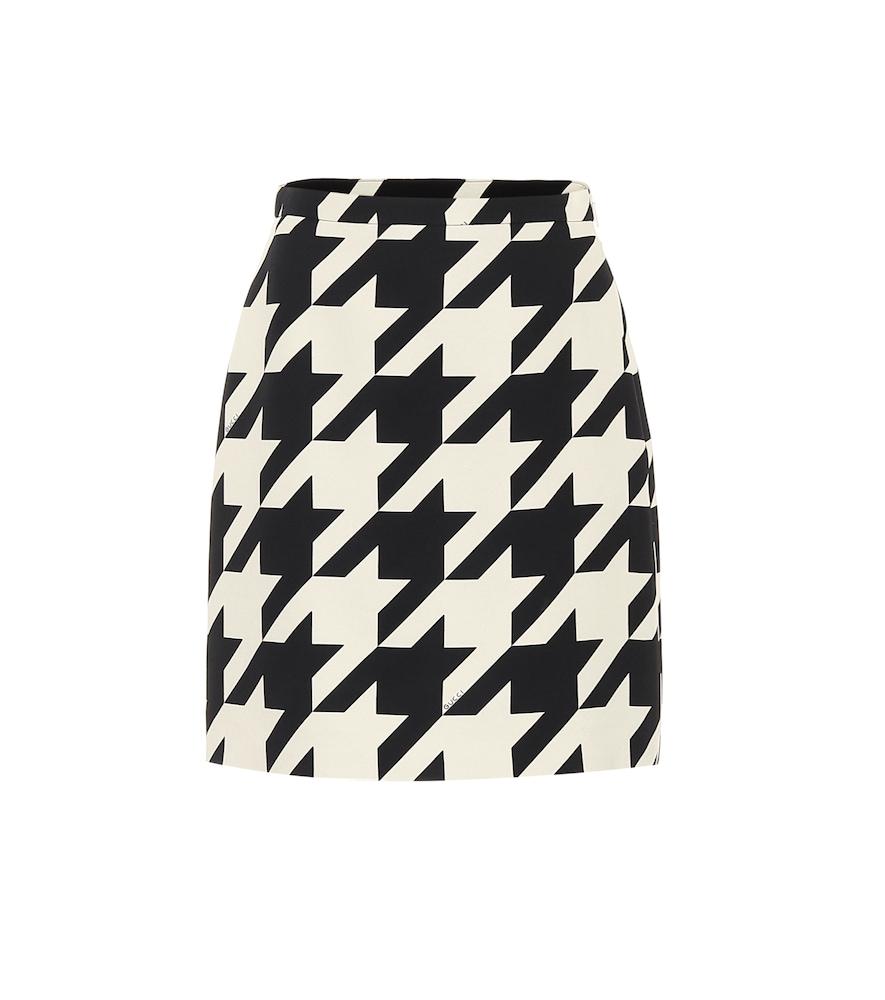 Mini-jupe en soie et laine à carreaux - Gucci - Modalova