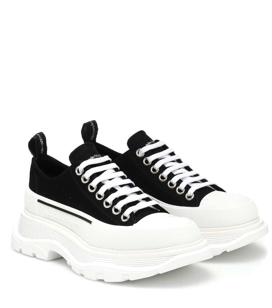 Tread Slick canvas platform sneakers