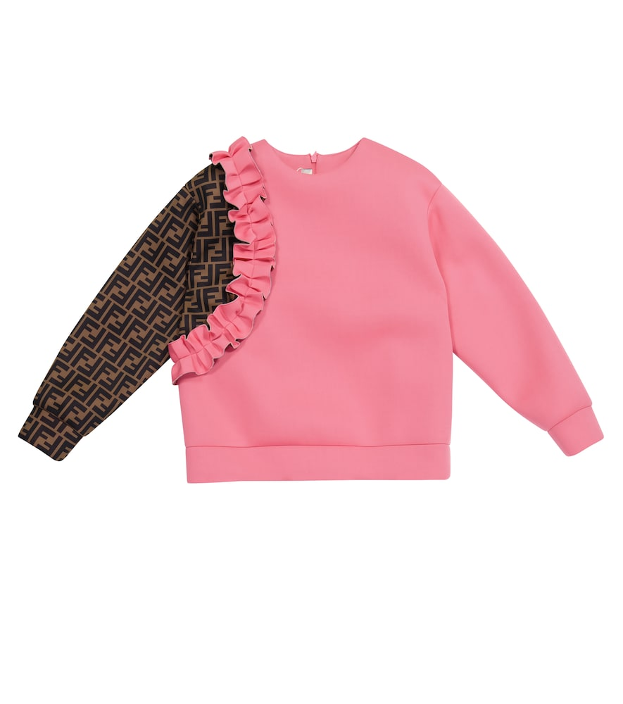 Fendi FF RUFFLED SWEATSHIRT
