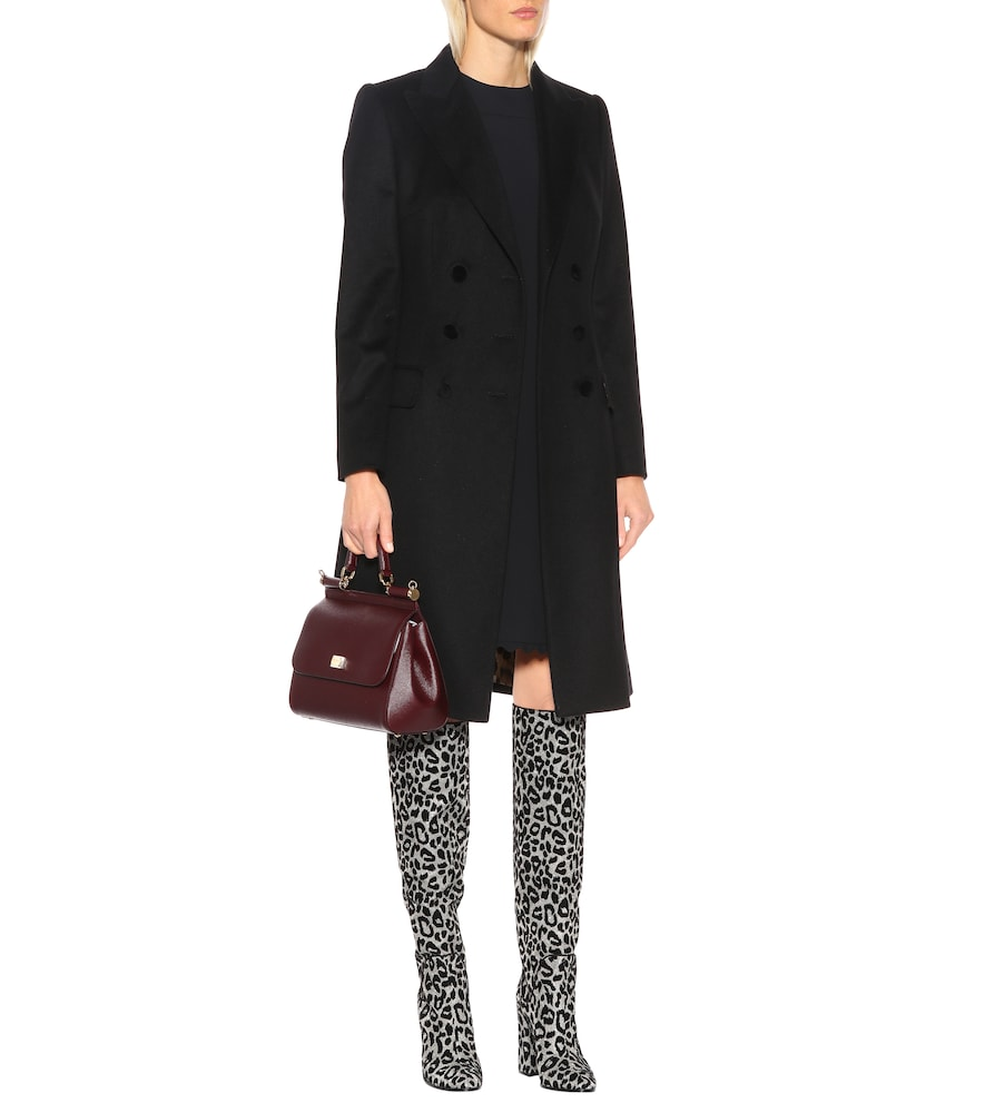 Leopard over-the-knee boots by Dolce & Gabbana