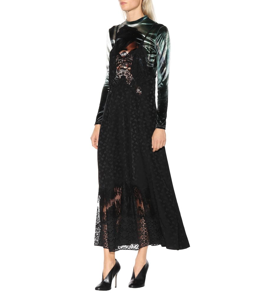 Velvet and floral jacquard dress by Stella McCartney