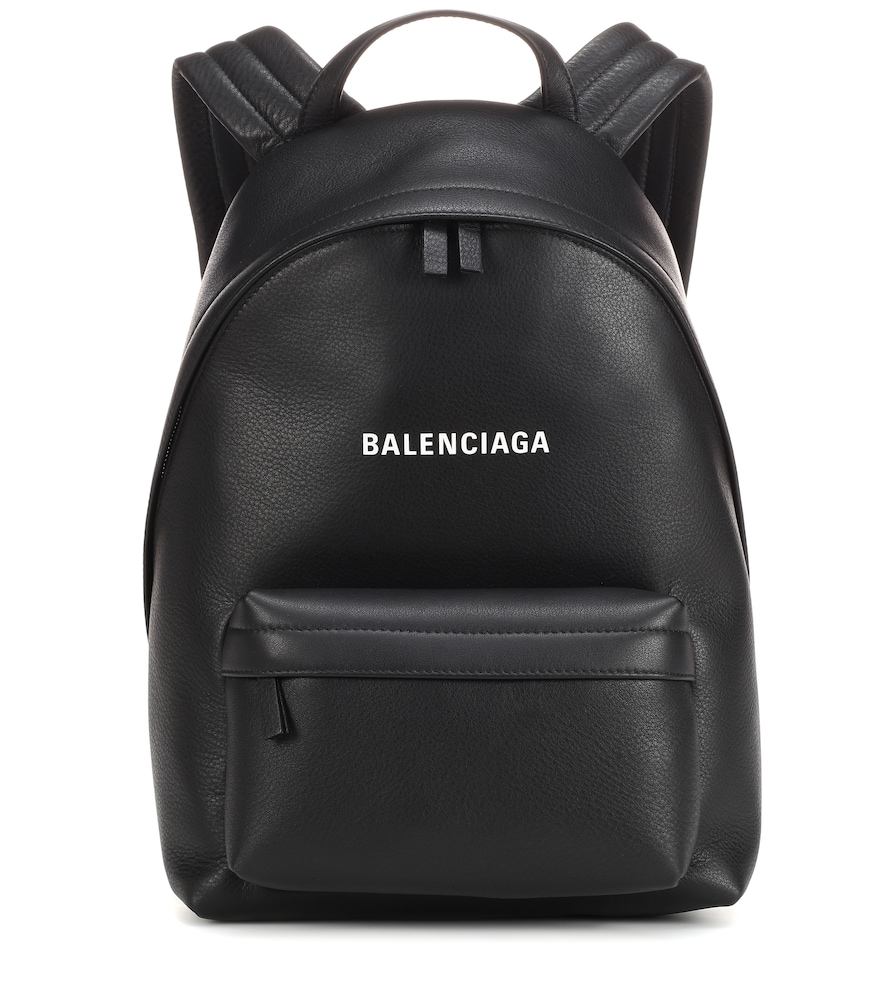Everyday Calfskin Leather Backpack - Black