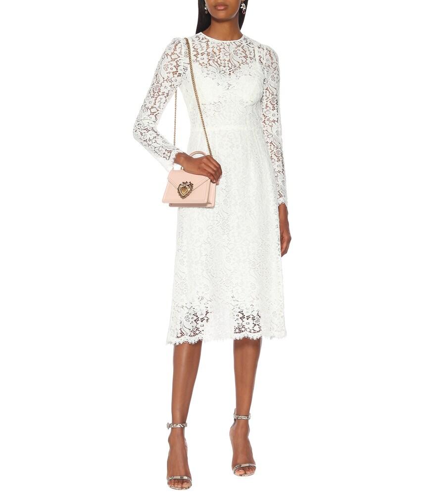 Floral-lace midi dress by Dolce & Gabbana