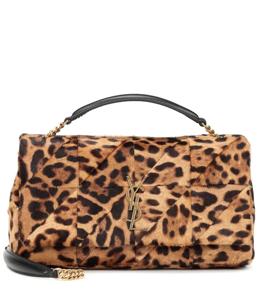 Saint Laurent Jamie Medium Calf Hair Shoulder Bag In Brown ... 5f29978b1776