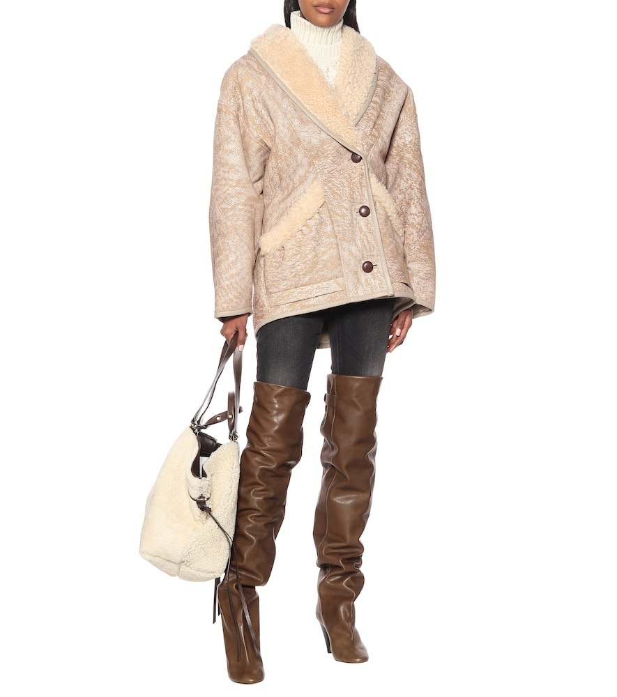 Likita leather over-the-knee boots by Isabel Marant