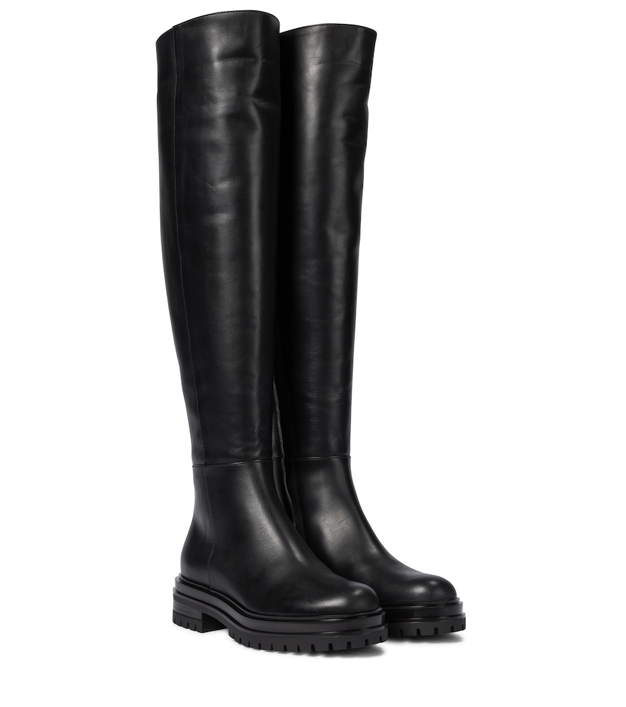 Quinn leather over-the-knee boots
