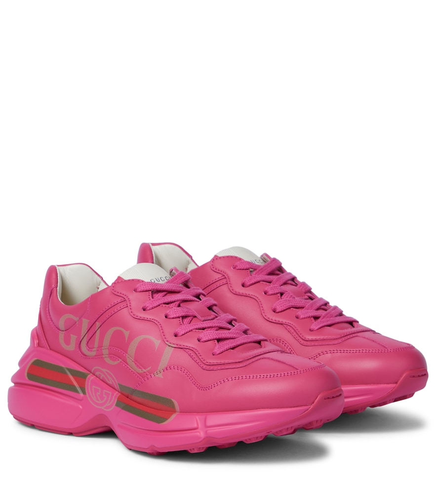 Rhyton Leather Sneakers, Pink