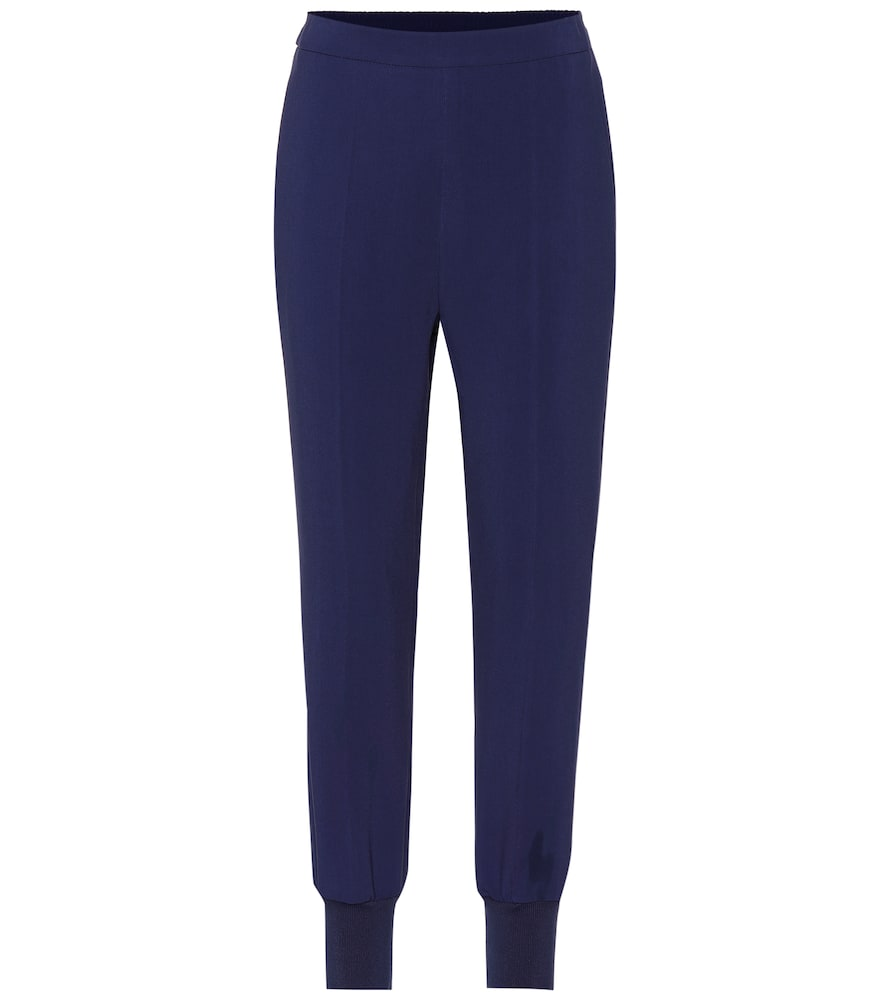 Julia High-Rise Tapered Pants in Blue