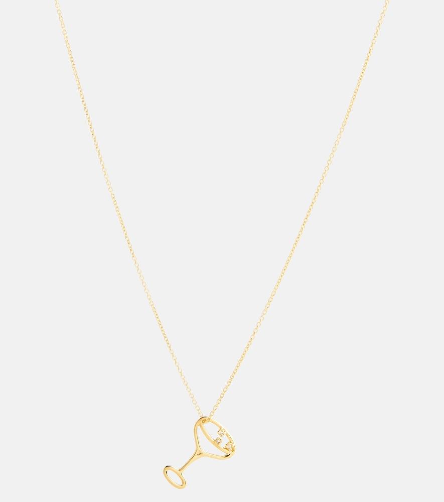 Champagne Brillante 9kt gold necklace with diamonds