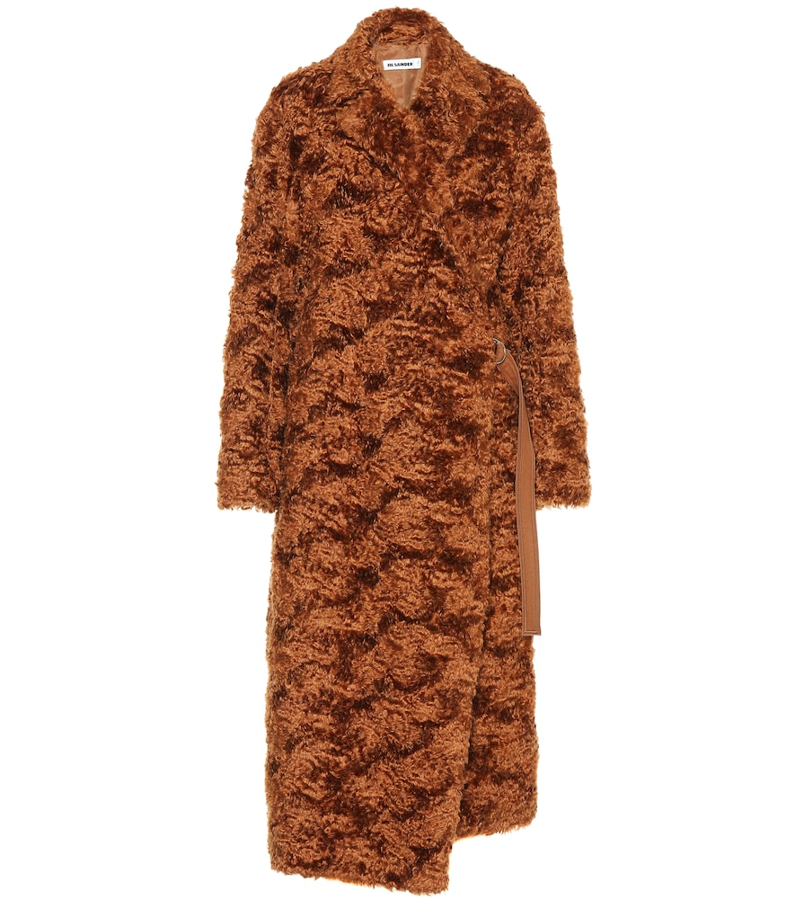 FALKLAND MOHAIR AND COTTON-BLEND TEDDY COAT