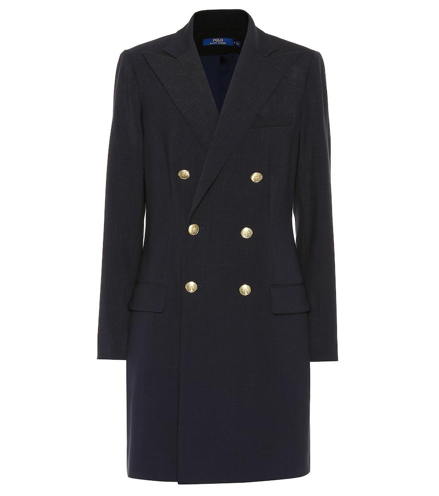 Wool-Blend Coat in Blue