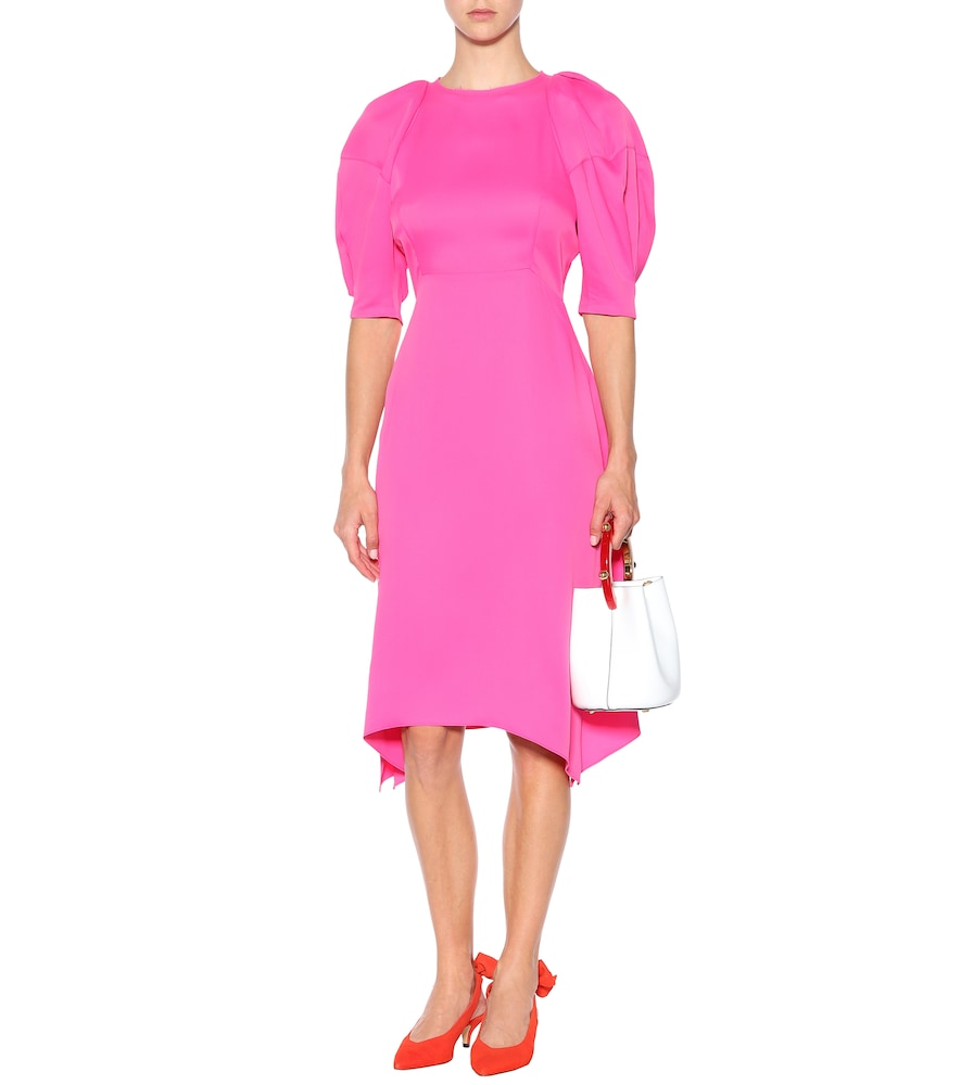 Cynthia satin midi dress by Khaite
