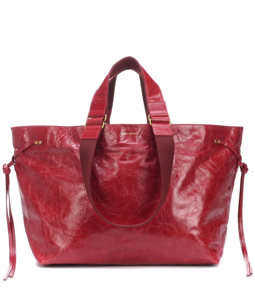 ISABEL MARANT Wardy Leather Shopper Tote Bag - Red