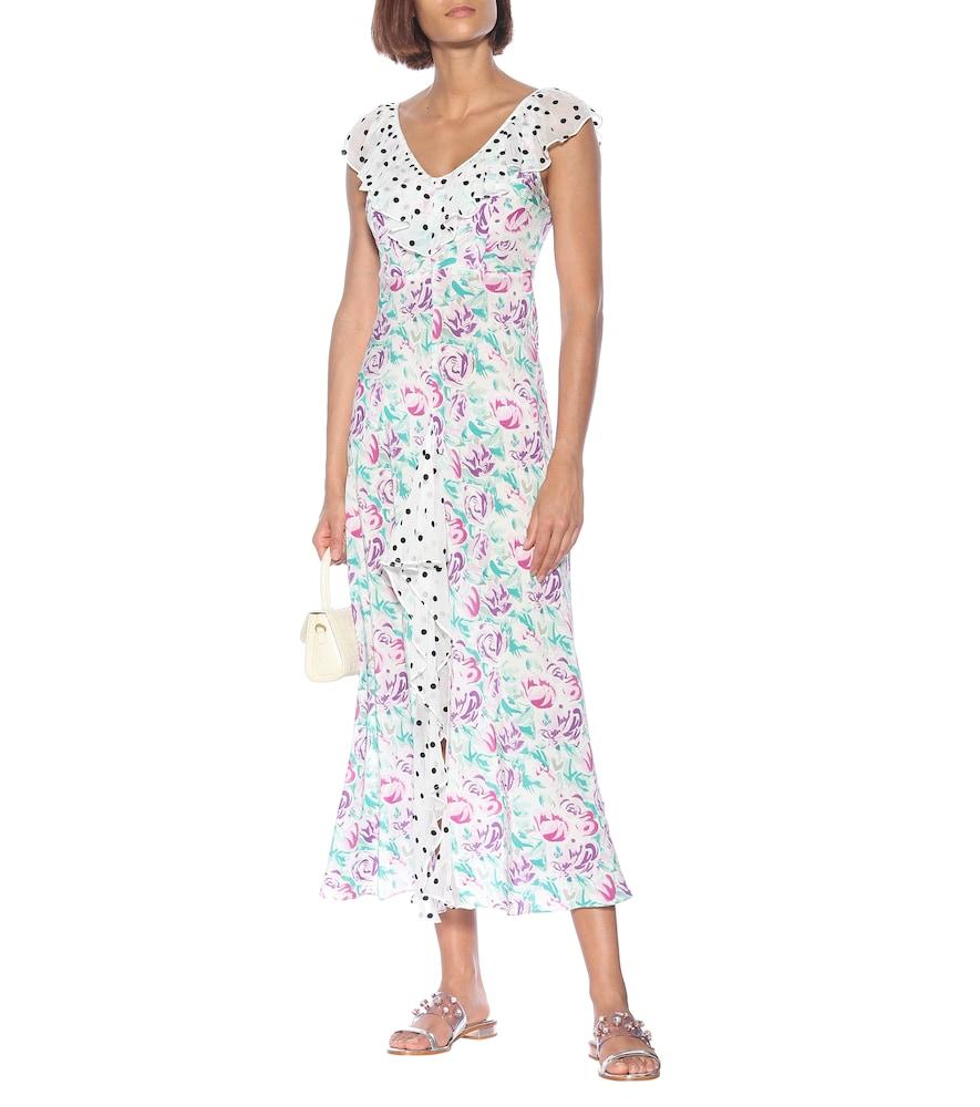 Antoinette floral silk maxi dress by Rixo