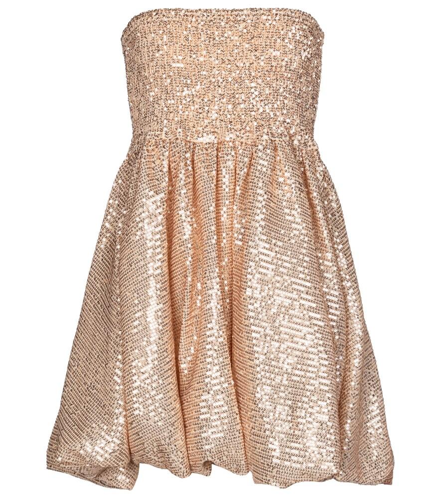 Bianca sequined strapless minidress