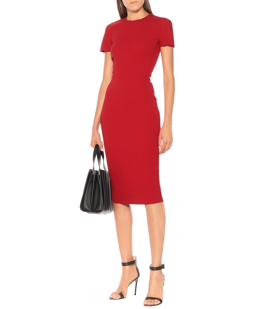 Crêpe midi pencil dress by Victoria Beckham